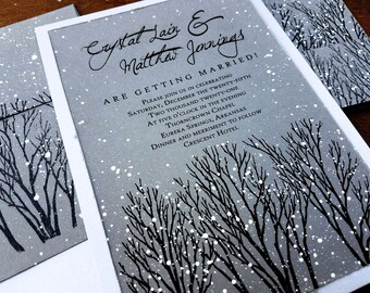 Winter Wedding Invitations rustic wedding invitations winter wonderland wedding invitations gray winter wedding invitations