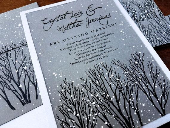 Winter Wedding Invitation Wording: Winter Wedding Invitations Rustic Wedding Invitations Winter