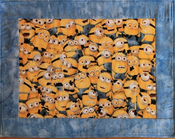 Minion placemats, childrens placemat, Minions. Disney placemat. Yellow placemat. Blue placemat, everyday placemat