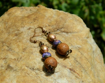 Bodhi Seed Prayer Bead Bohemian Earrings