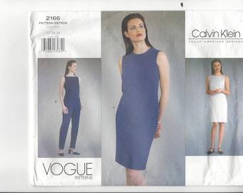 CALVIN KLEIN VOGUE American Designer Pattern #2166