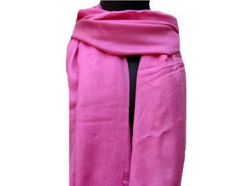 Pink scarf/ plain scarf/ cotton  scarf/ trendy scarf / fashion scarf/ gift scarf/  gift ideas.