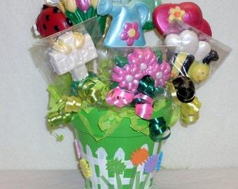 Garden Lollipop Bouquet , thank you, get well