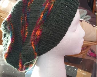 The Peace Hat in Green and multi