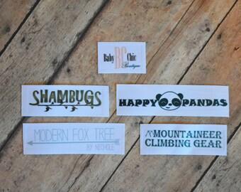 """7/8"""" Logo Labels"""
