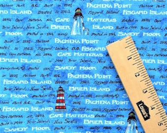 Great Buy - 5 1/2 Yards Daisy Kingdom Lighthouse Cotton Fabric