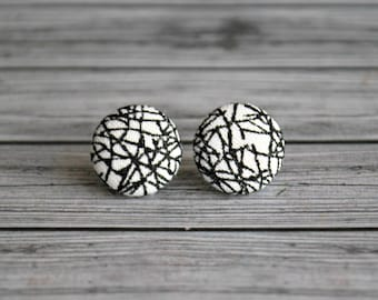 Fabric button earrings , fabric button studs , button earrings , fabric , button ,  fractures , ladies earrings , Australia