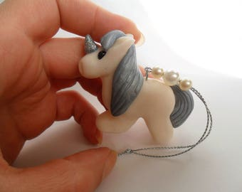 Unicorn Christmas Ornament - Christmas Tree Decoration - Handmade Clay Unicoren