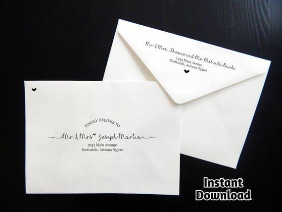 Wedding envelope template printable envelope address accmission Images