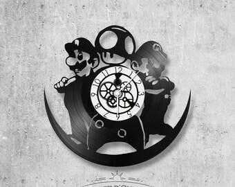 Vinyl 33 clock towers theme Mario and luigi