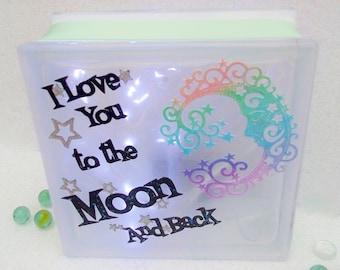 Baby Nightlight, Childrens Nightlight, Love you to the Moon and Back Keepsake Light