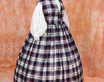 Victorian Crinoline  Civil War  Dress, Custom Sized