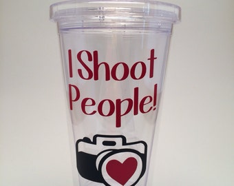 I Shoot People! Camera Photographer Tumbler