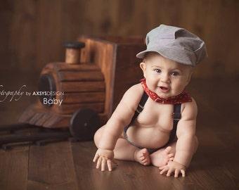 Baby Train Hat, Childrens Train Hat, Train Conductor Hat, Newborn Train Hat, Newborn Boy Hat, Baby Boy Hat,  Boys Train Hat, Conductor Hat