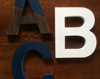 SOLD: Wooden Decorative Letters / Chalk Paint / Stain / Distressed / Shabby Chic / Wall Décor / Annie Sloan / 8 inches / Pine