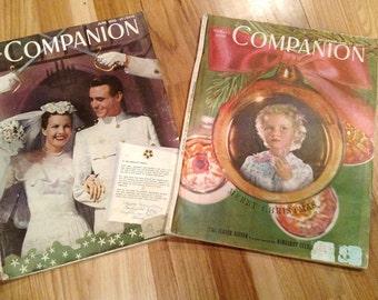 40's Woman's Home Companion Magazines 1945-1946
