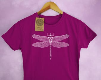 Dragonfly Insect Print Ladies T-Shirt