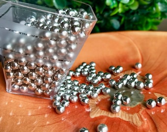 Silver Dragees 4mm - 2OZ 4mm Silver Dragees by CK Products Cake Candy Cookie Cake Pop Decorations