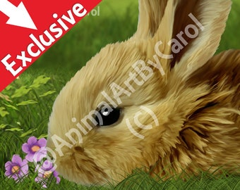 Rabbit Poster - Perfect nursery art for children's room