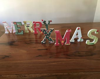 Christmas Stand Alone decorative letters