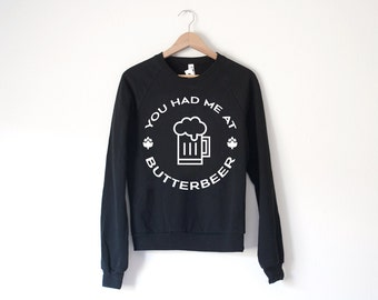 Butterbeer Sweatshirt - by So Effing Cute - inspired by Harry Potter