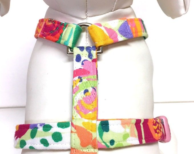 Featured listing image: Naked Dog Harness- The Painters Garden- Adjustable Harness