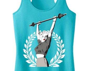 Marilyn Monroe Lifting Workout Tank Top, Workout Clothes, Marilyn Monroe, Workout Shirt, Gym Tank, Gym Clothing, workout tank