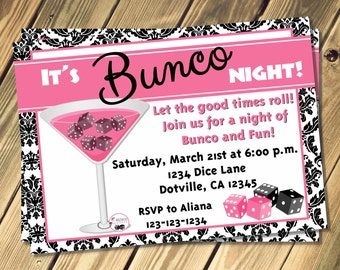 Bunco invitation Etsy