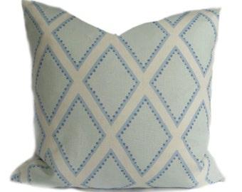"Sarah Richardson Pillow Cover Brookhaven, Chambray 20"" sq."