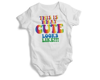 This is what CUTE looks like funny baby onesie baby shower future baby sweet baby bodysuit best gift for baby