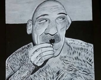 Maurice Tillet the French Angel original painting