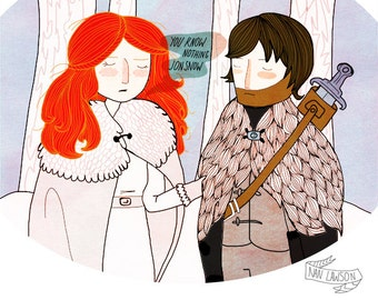 You Know Nothing - Illustration Print