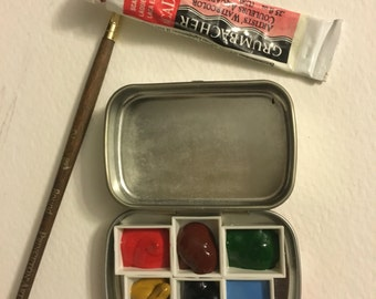 Mini Palette w/ watercolor