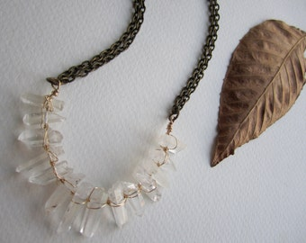PRICE REDUCED Healing Quartz Crystals Necklace