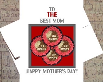 Funny Mothers Day Card, Ohio State Card, Funny Mom Card, Buckeye Card, Mom Card, Happy Mother's Day, OSU, Cereal, Scarlet And Gray