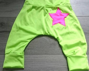 Baby harem pants elastic 12-18 months scalable lime green