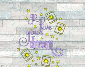 Go Live Your Dream SVG, DXF, EPS, Studio 3, Png