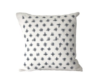Hashtag Embroidered Cushion Covers | Decorative Pillow Covers | Couch Pillows
