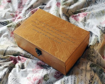 Quote box Etsy