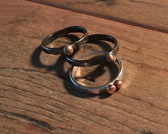 Casting grain ring, stacking ring, bronze casting grain, mixed metals