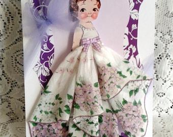 Dolly Dingle Paper Doll Hanky Card Penny