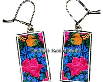 Colorful Flower Earrings, flowers earrings, Summer Jewelry, Hypoallergenic Earrings