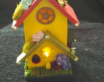 Little fairy house, Night light.