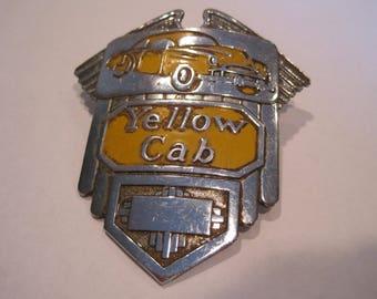 Vintage Yellow Cab Hat Badge