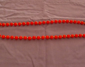 Rosy Red Beaded Necklace