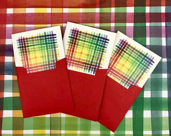 3 Pack Rainbow Stripe Cards with envelopes