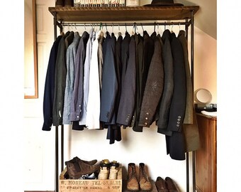 Rustic Industrial Clothes Rail/Rack