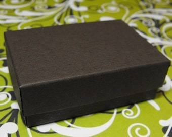 TAX SEASON Stock up 100 Pack Chocolate Brown 3.25X2.25X1 Inch Cotton Filled Jewelry Gift Retail Boxes
