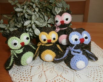 Crocheted owls - stuffed animal
