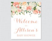 Peach Baby Shower Welcome...